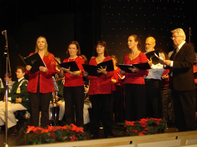 Våra solister i Weinachtslied.